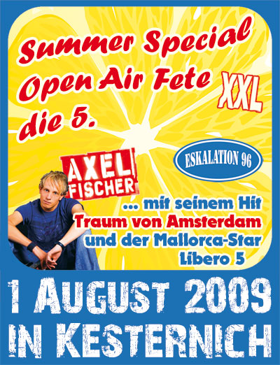 Summe Special Open Air Fete die 5.